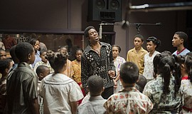 "Film still from ""Get on Up"" (2014)."