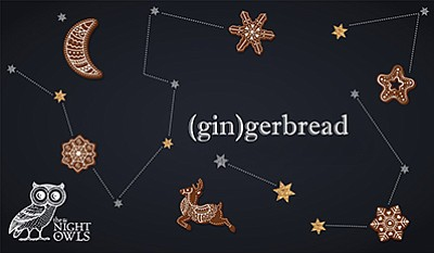 """Promotional graphic for """"(Gin)gerbread."""" Courtesy of the Athenaeum Music and Arts Library."""