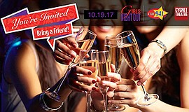 Promotional graphic for Girls Night Out. Courtesy of Cygnet Theatre.