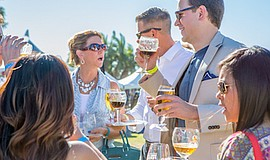 Promotional photo for the Grand Tasting event at the San Diego Bay Wine & Foo...