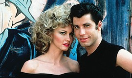 "Olivia Newton-John and John Travolta on ""Grease"" (1978)."