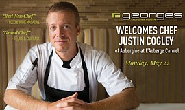 Promotional photo for the Special Collaboration Dinner with Chef Justin Cogley.