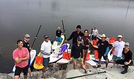 Photo of H2O team, courtesy of H2O Trash Patrol.