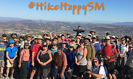 A group of hikers for the annual San Marcos Trails Day.