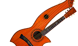 Photo of an example of a harp guitar. Courtesy of the Museum of Making Music.