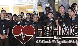 Promotional photo of students from the Health Sciences High & Middle College....