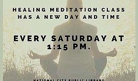 Promotional poster for the Healing Meditation Class. Courtesy of the National...