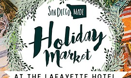 Promotional graphic for the Holiday Market. Courtesy of San Diego Made.