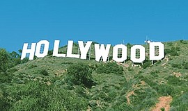 Photo of the Hollywood sign.