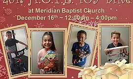 Promotional graphic for the H.O.P.E. Toy Drive. Courtesy of Meridian Baptist ...