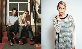 A photo of musicians Julian Lage, Chris Eldridge and Aoife O'Donovan, courtes...