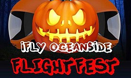 Promotional graphic for the Spook-tacular Flight Fest. Courtesy of iFLY Ocean...