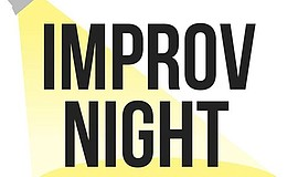 Promotional graphic for Improv Night at Clairemont High School.