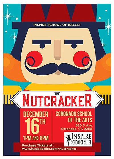 "A promotional poster for ""The Nutcracker,"" courtesy of In..."