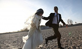 "Film still from ""On the Bride's Side"" (Io Sto con la Sposa). Photo by Marco G..."