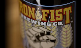 Photo of an Iron First Brewing Co. bottled beer.