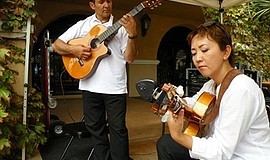 Photo of the featured Flamenco performers. Courtesy of Javid and Naoko.