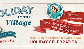 "Promotional graphic for ""Holiday in the Village."" Courtesy of La Mesa Village..."