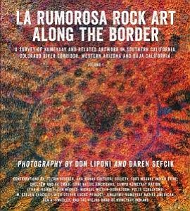 "Graphic cover of ""La Rumorosa Rock Art Along The Border."""