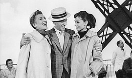 """Kay Thompson, Fred Astaire and Audrey Hepburn in """"Funny Face"""" (1957)."""