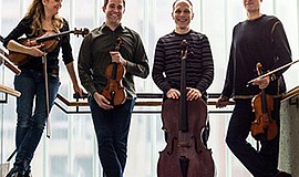 A promotional photo of the St. Lawrence String Quartet.