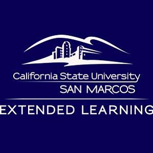 Promotional graphic for CSUSM Extended Learning.