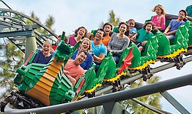 Guests on a LEGOLAND ride.