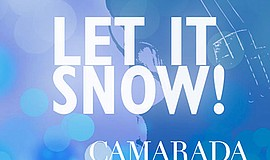 "Promotional graphic for the ""Let It Snow"" event. Courtesy of Camarada."