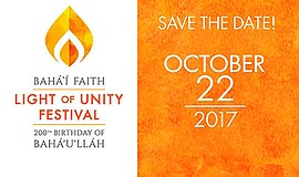 Promotional graphic for the Light of Unity Festival. Courtesy of Bahá'ís of E...