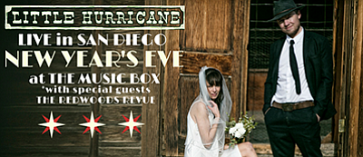Promotional graphic for the New Year's Eve performance. Courtesy of Little Hurricane.