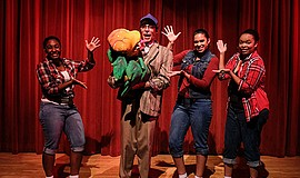 "A photo of the cast of Coronado Playhouse's ""Little Shop of Horrors"" by Ken J..."