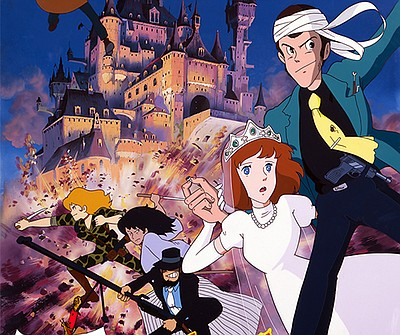 """A promotional movie poster of """"Lupin the 3rd: The Castle ..."""