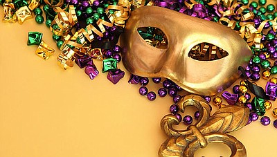 Promotional photo of a Mardi Gras mask for the Hearts for...