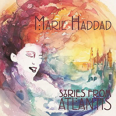 An illustration of Marie Haddad's album cover by Jaime Ro...