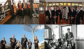 A photo of music groups that will perform at the Maritime Museum.