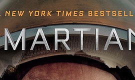 "Graphic cover of Andy Weir's ""The Martian."" Courtesy of Andy Weir."