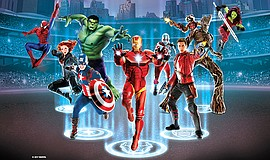 Promotional photo of super heroes for the Marvel Universe LIVE! Age of Heroes.