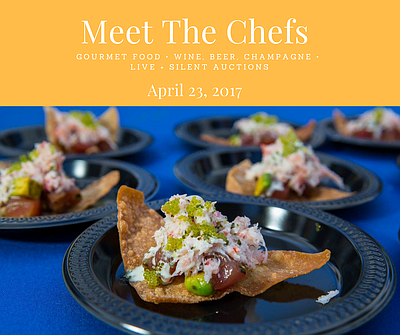 Promotional graphic for the Meet the Chefs Event.