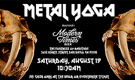 Promotional graphic for the first San Diego Metal Yoga. Courtesy of the San D...