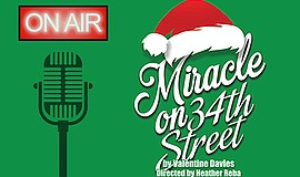 "A promotional poster for ""Miracle on 34th Street,"" courtesy of Oceanside Thea..."