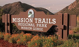 Photo of the Mission Trails Regional Park sign.