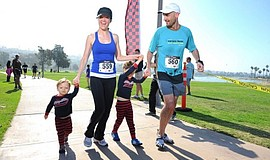 Participants at the annual Mother's Bay Run.