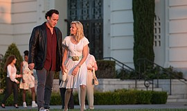"John Cusack and Elizabeth Banks in ""Love & Mercy"" (2014)."