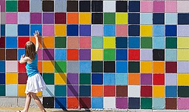 """Photo of Roy McMakin's """"Favorite Color."""" Courtesy of Philipp Scholz Rittermann."""