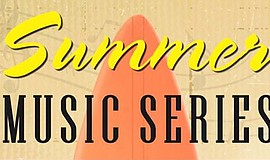 Promotional graphic for the summer music series at The Forum Carlsbad.