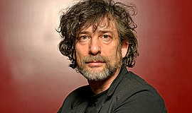 A promotional photo of author Neil Gaiman.