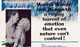 Marilyn Monroe and Joseph Cotten in Niagara (1953).