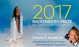Promotional graphic for the 2017 Nierenberg Prize for Science in the Public I...