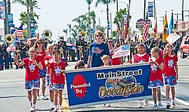 Participants in the annual Oceanside Independence Parade.