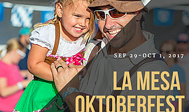 Promotional photo for the 2017 La Mesa Oktoberfest.
